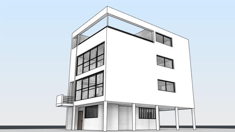 פרויקט אדריכלי שנבנה בקורס ללימודי רוויט - REVIT