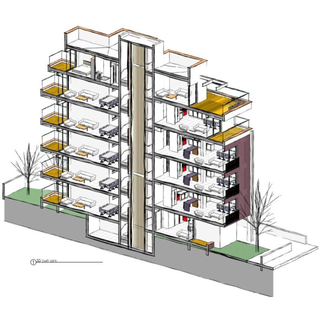 פרויקט בנין קומות של בוגר קורס רוויט - שי ללוז